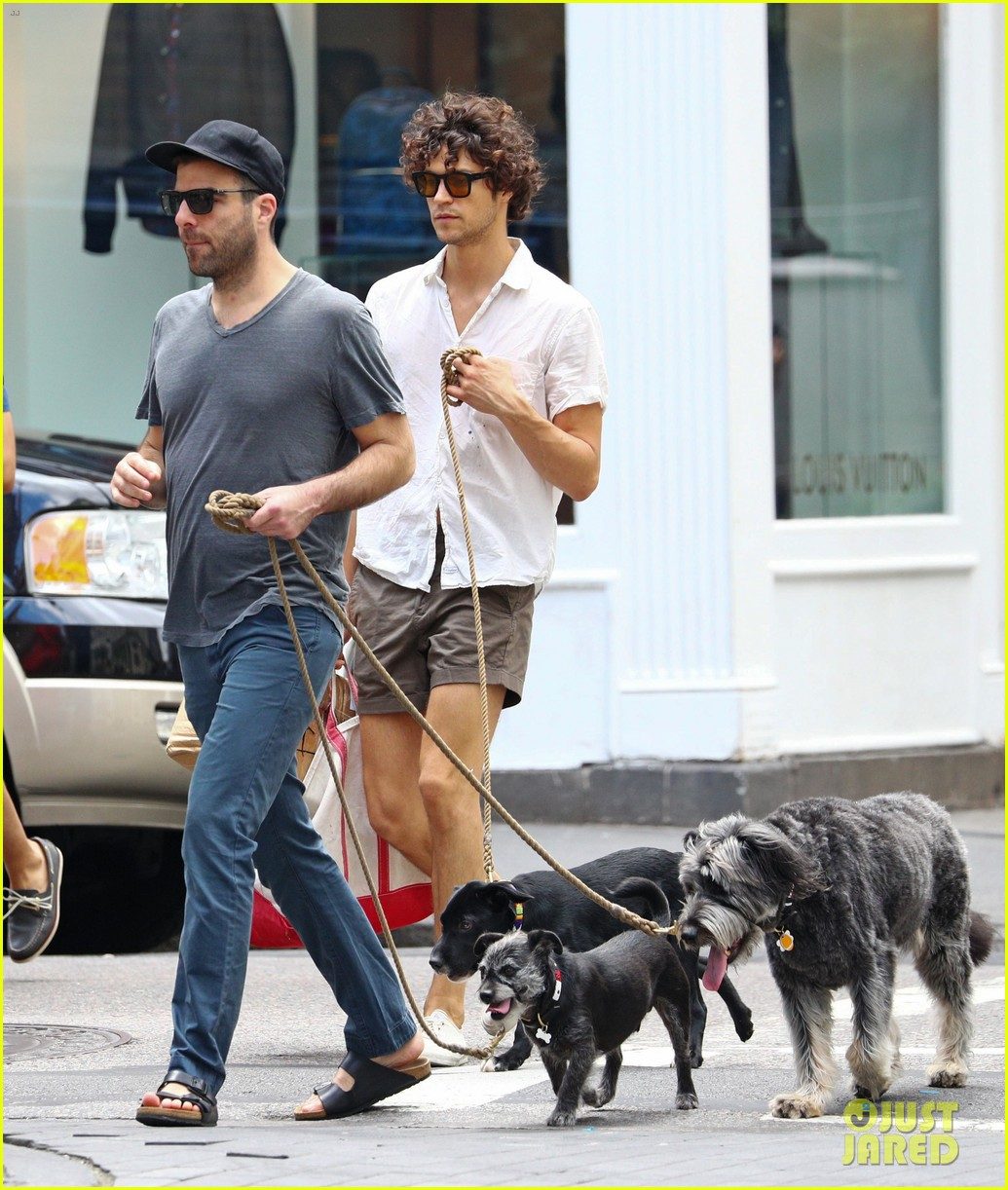 zachary quinto and miles mcmillan take their dogs for a walk in nyc 013725180