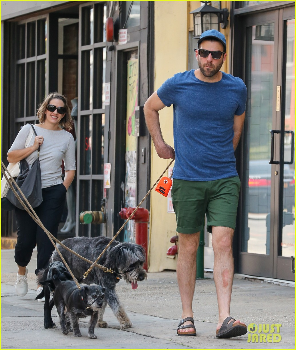 zachary quinto walks dogs nyc 033728749
