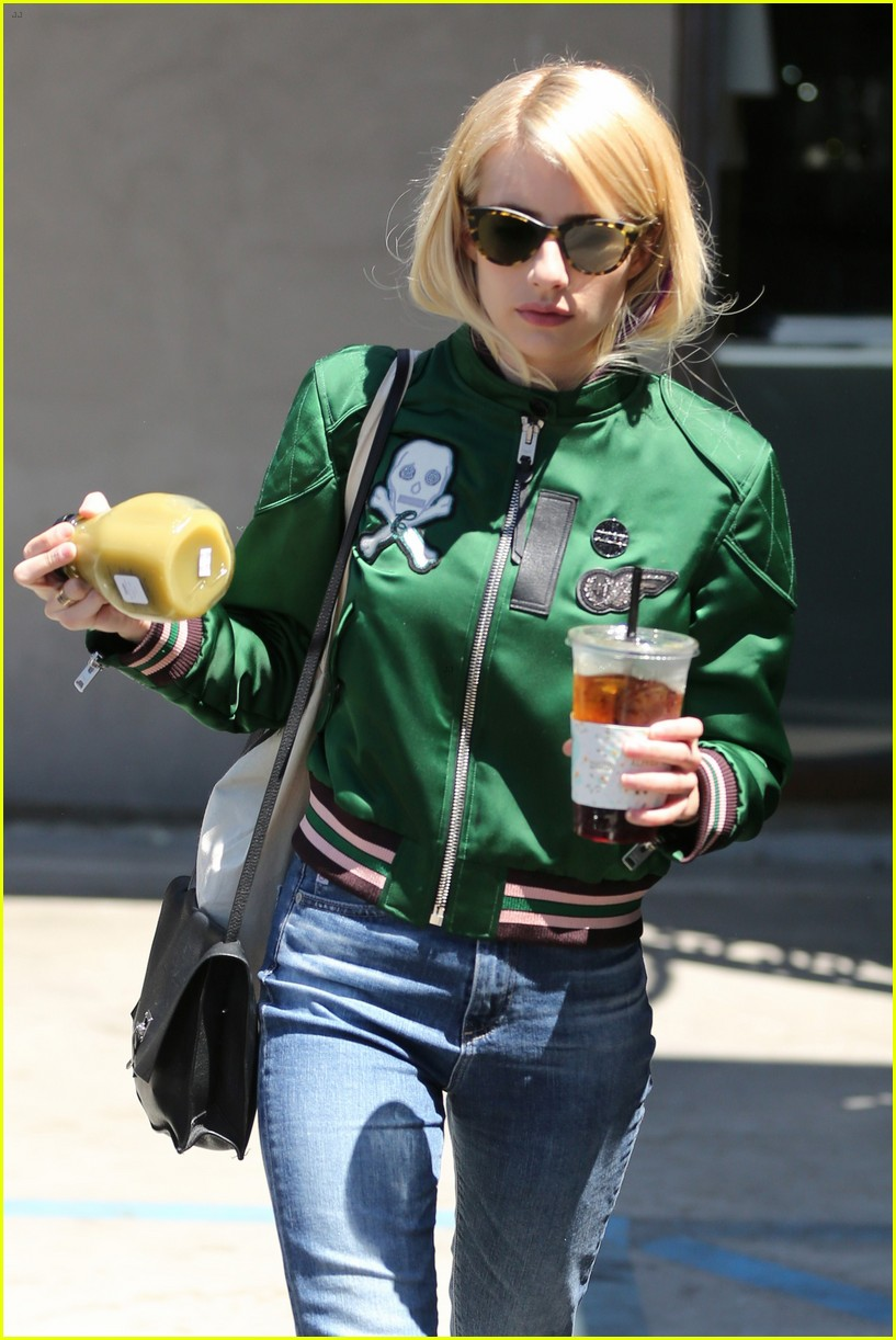 emma roberts keeps busy while filming scream queens 223736224