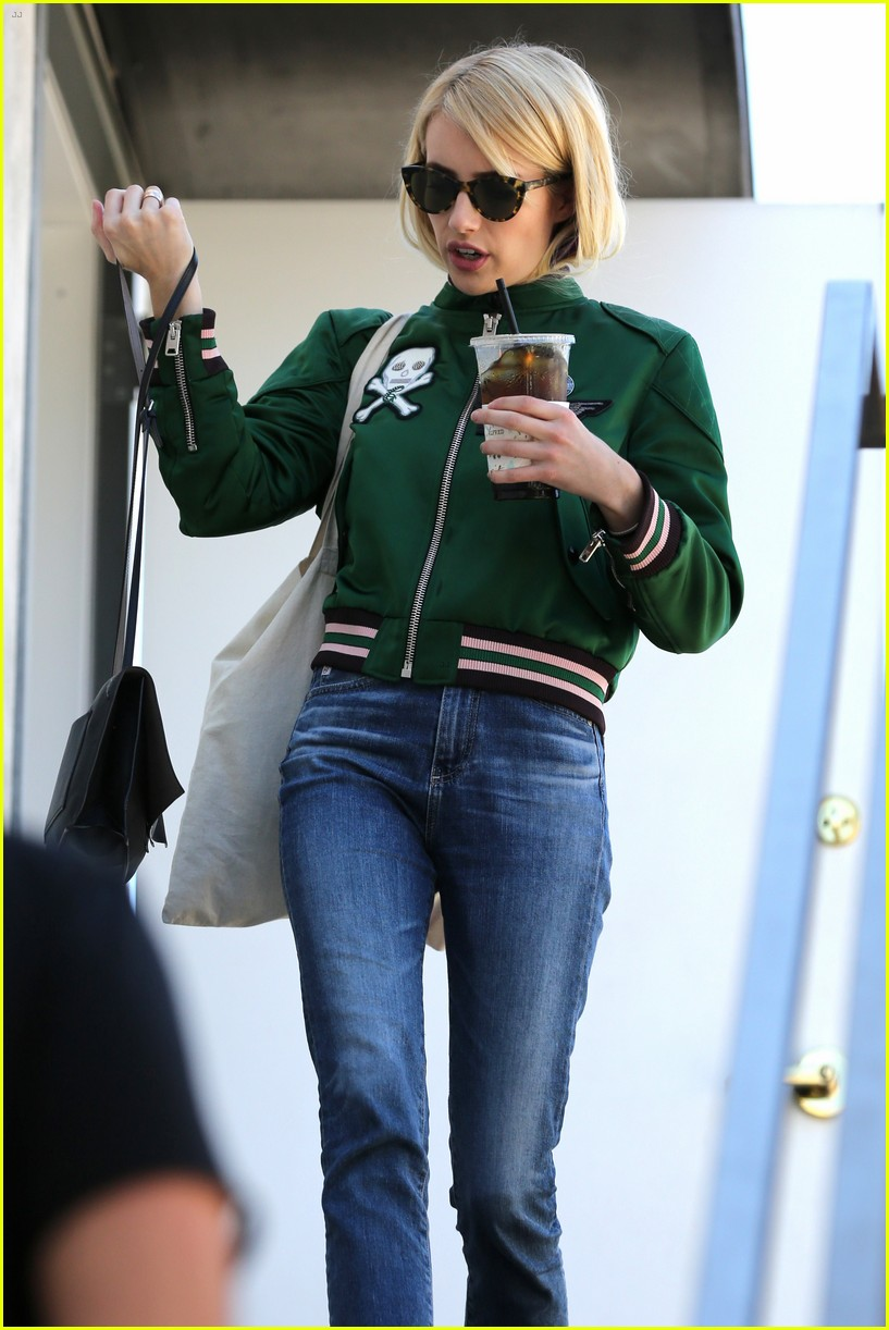 emma roberts keeps busy while filming scream queens 283736230