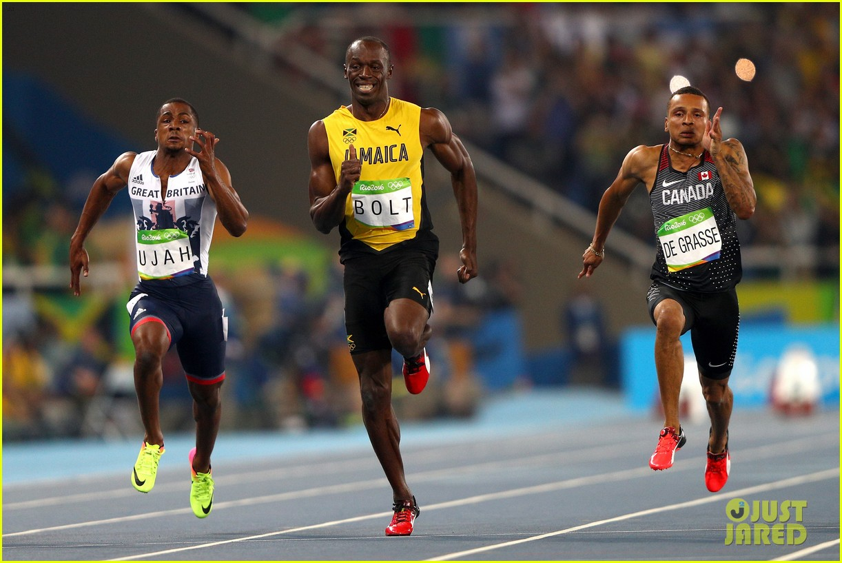 usain bolt first place 100m semifinals rio 033733706