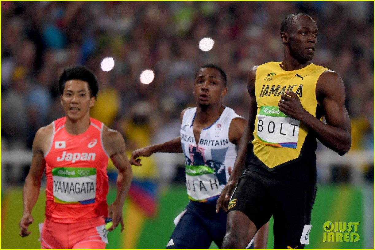 usain bolt first place 100m semifinals rio 123733715