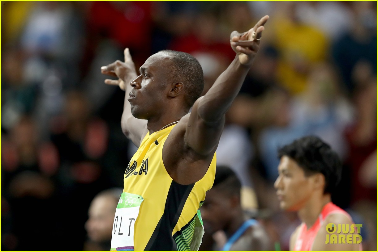 usain bolt first place 100m semifinals rio 223733725