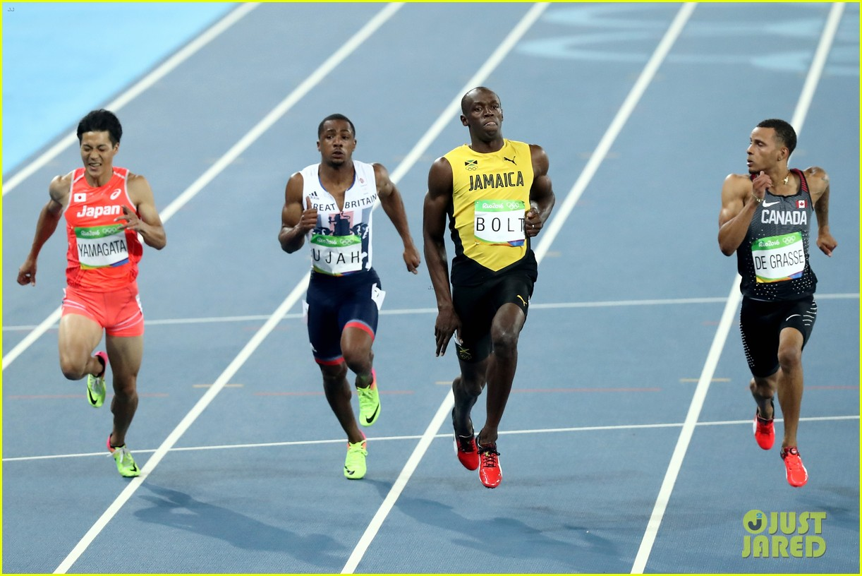 usain bolt first place 100m semifinals rio 263733729