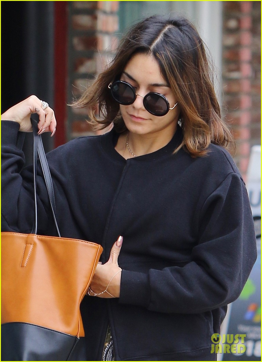 Vanessa Hudgens Hits Yoga Class After Hair Color Change Photo