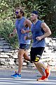 bradley cooper wears hair in man bun for morning run 21