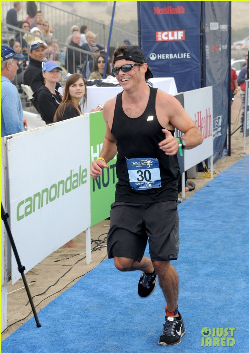 james marsden zac efron among celebs malibu triathlon 453763408