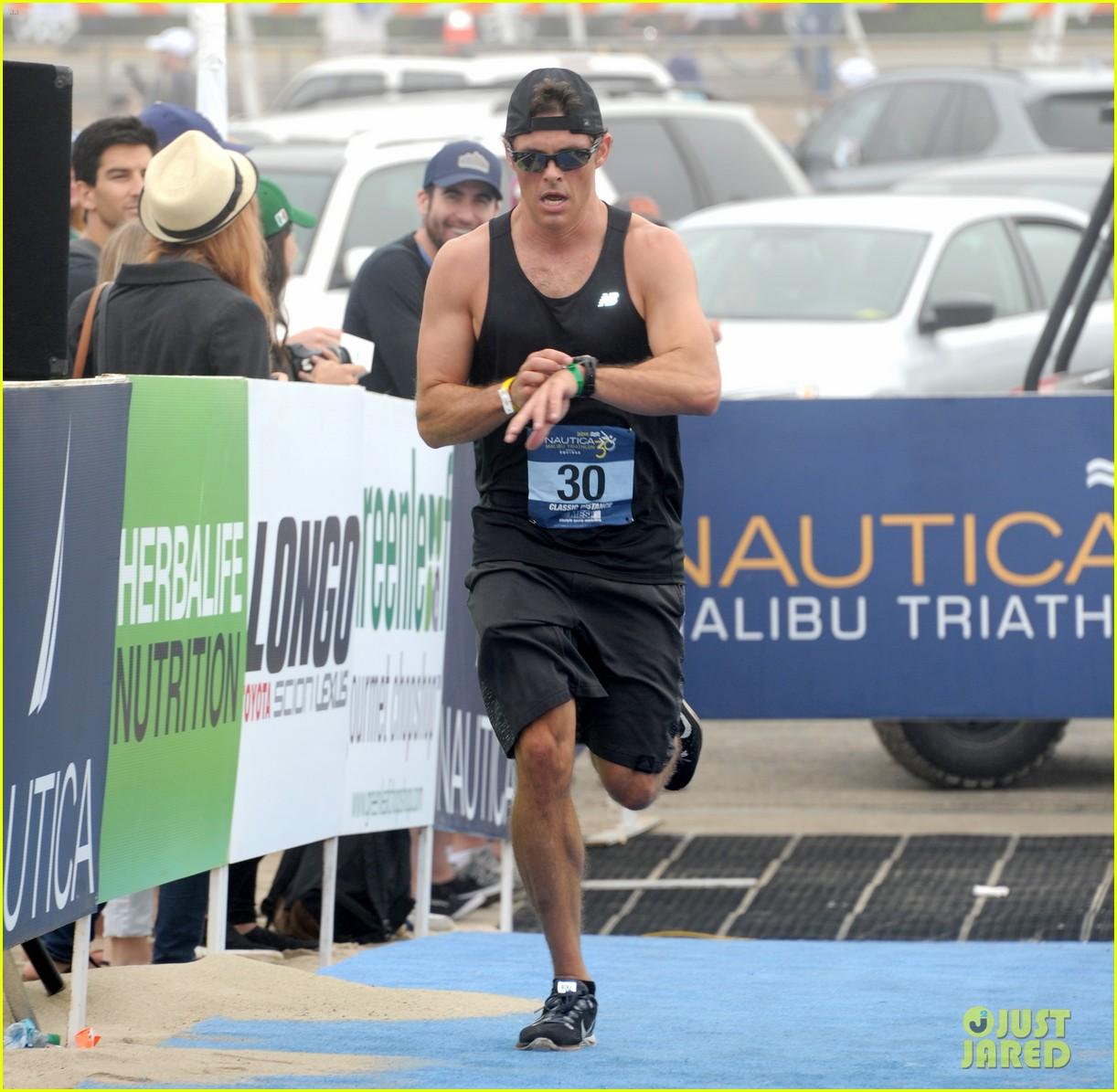 james marsden zac efron among celebs malibu triathlon 463763409