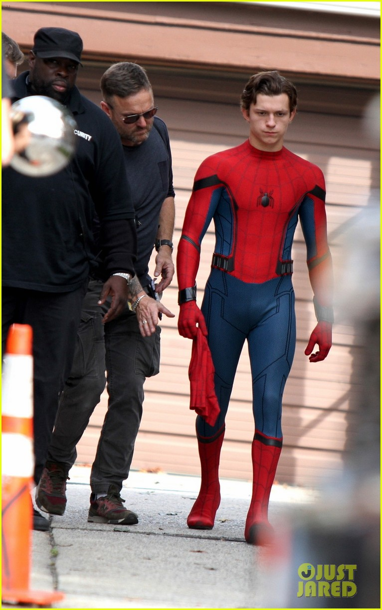 buying new 100% genuine various styles Tom Holland Looks Buff While Filming 'Spider-Man' in NYC ...