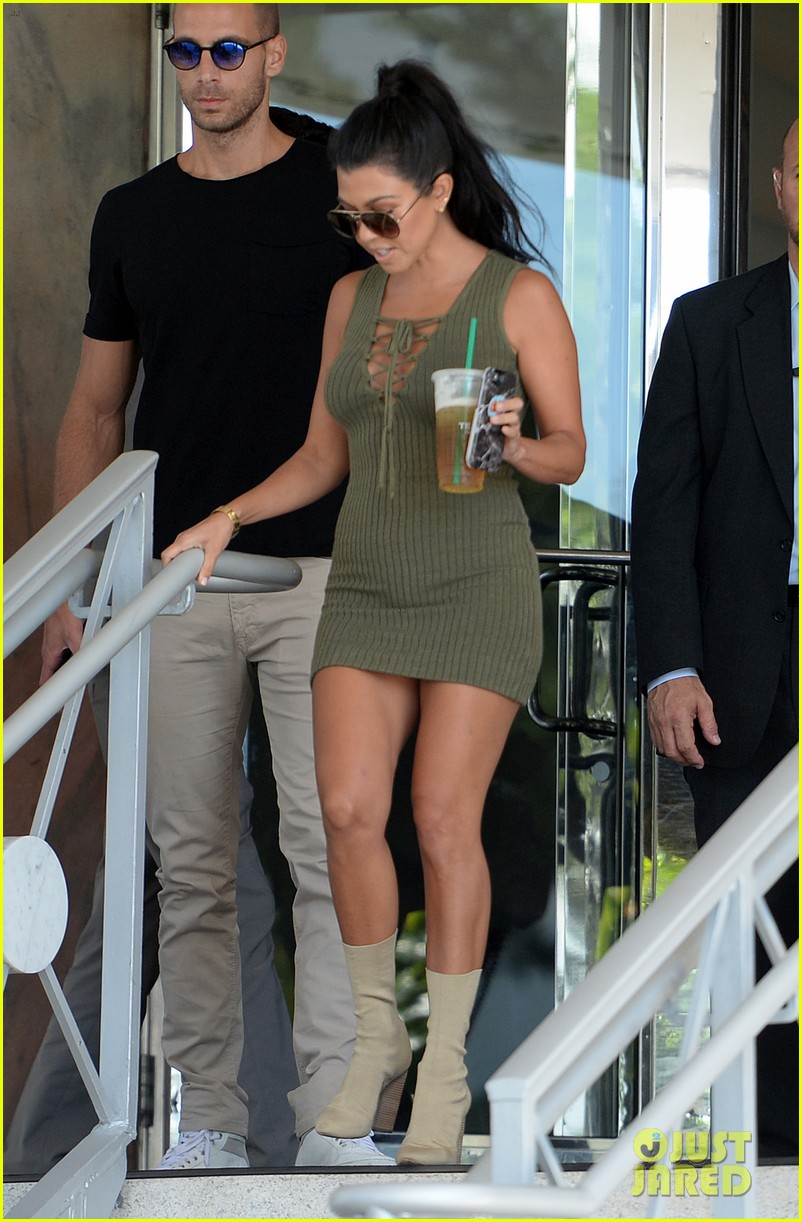 ed3d0860ce Kim Kardashian Wears Lace Corset   Jeans for Miami Outing  Photo ...