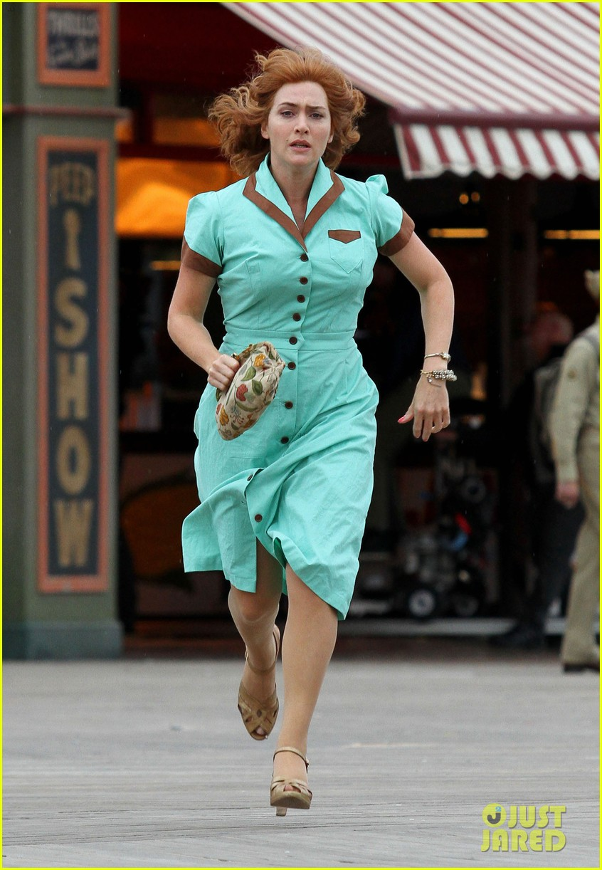 Kate Winslet & Juno Temple Wear Matching Blue Dresses for Woody ...