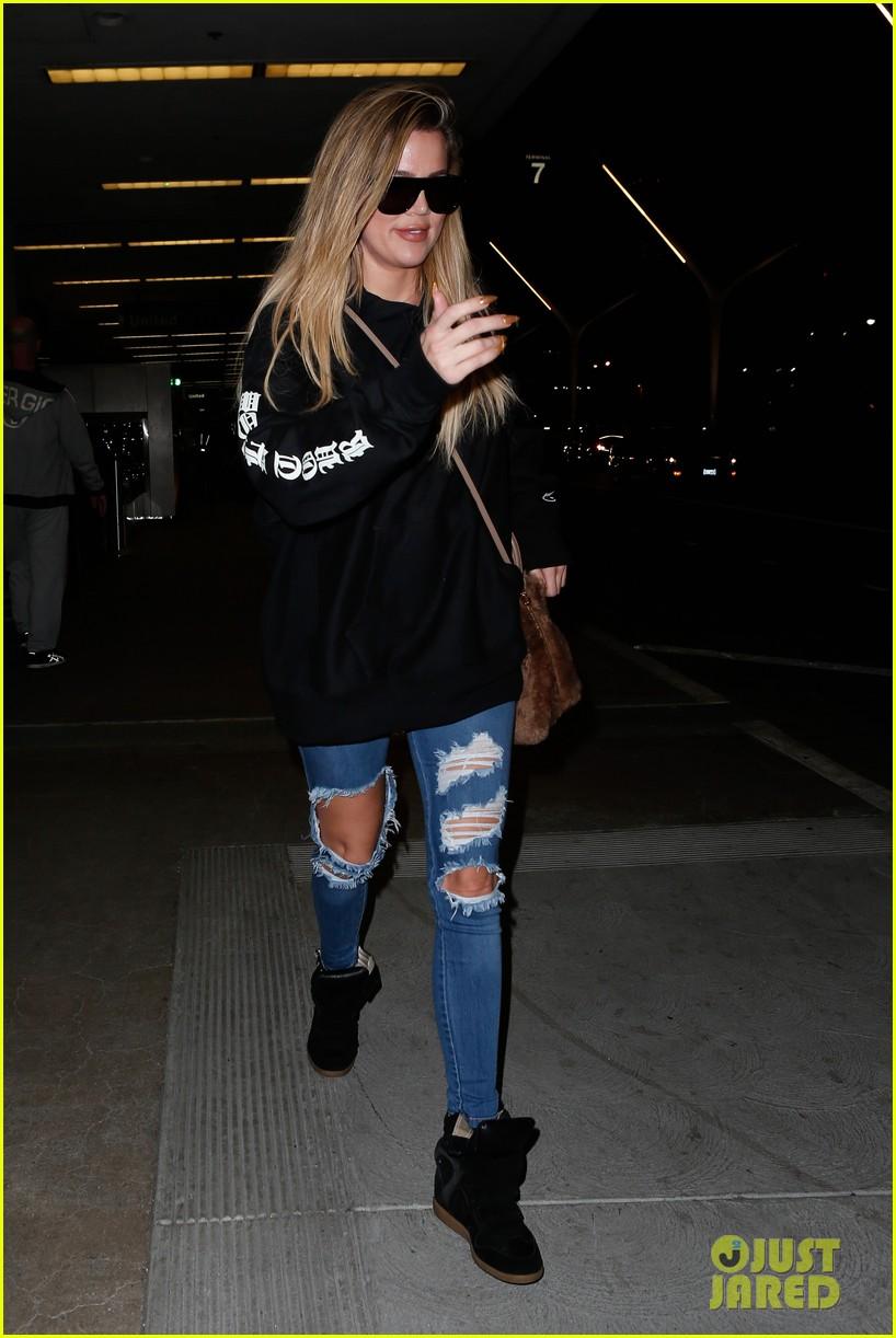 Khloe Kardashian Ripped Jeans