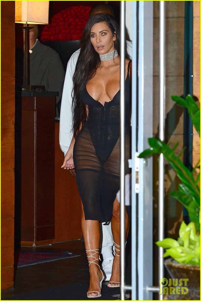Kim Kardashian Shows Off Major Cleavage In Sexy Sheer
