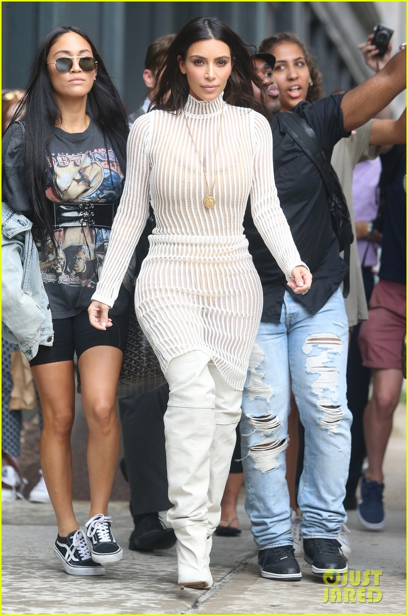 030e5e69cbd61 Kim Kardashian Steps Out in Style for Kanye West s  Yeezy  Season Four  Fashion Show