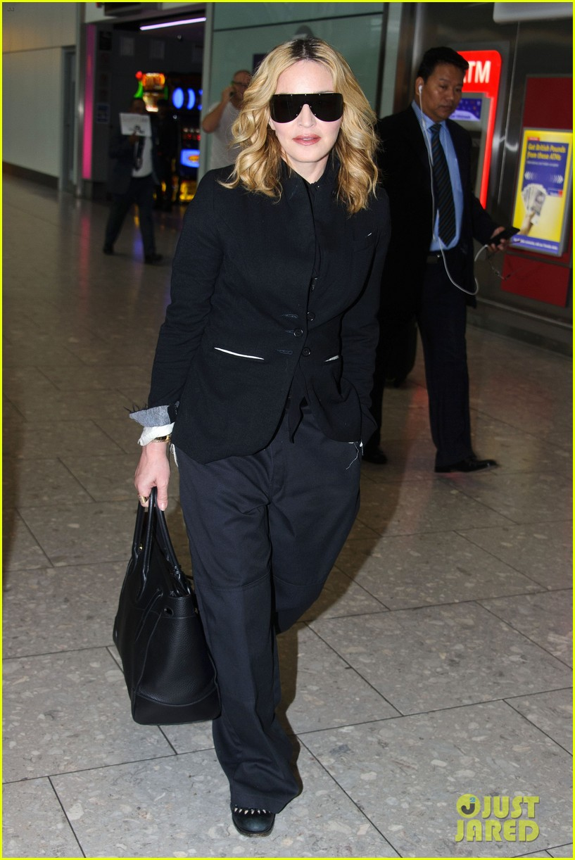 madonna visits london rocco school alone 103760698