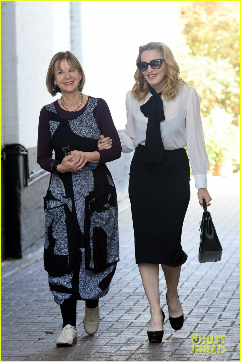madonna visits london rocco school alone 143760702