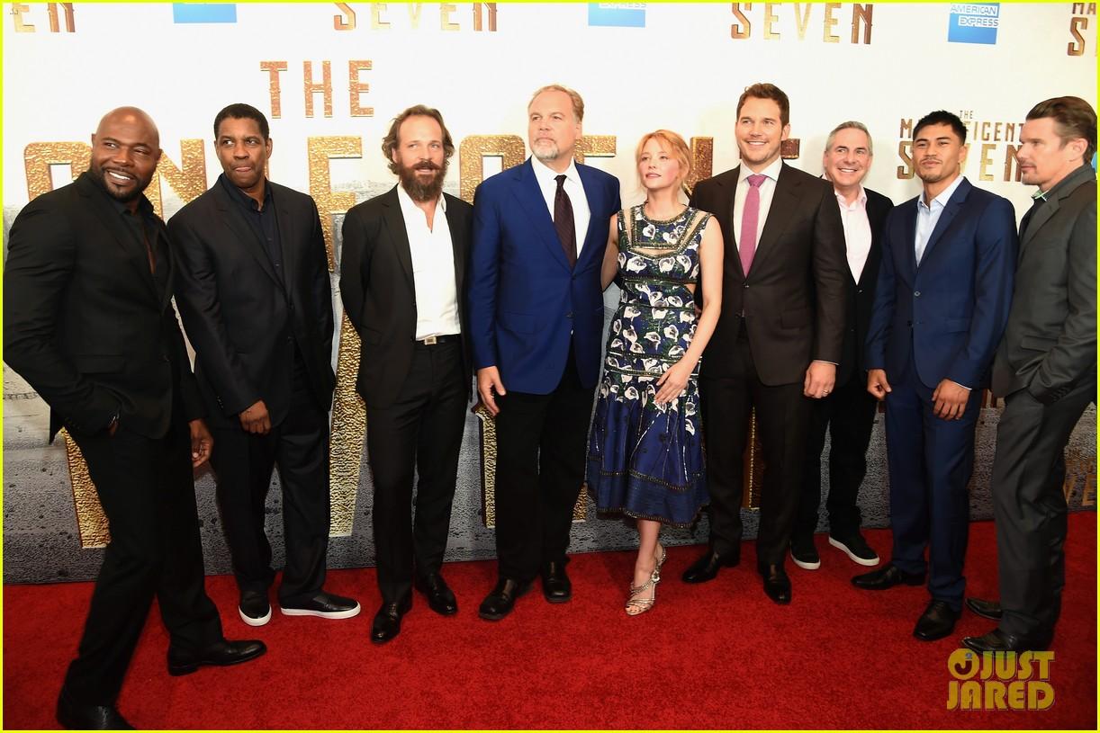 Denzel Washington Magnificent Seven Premiere