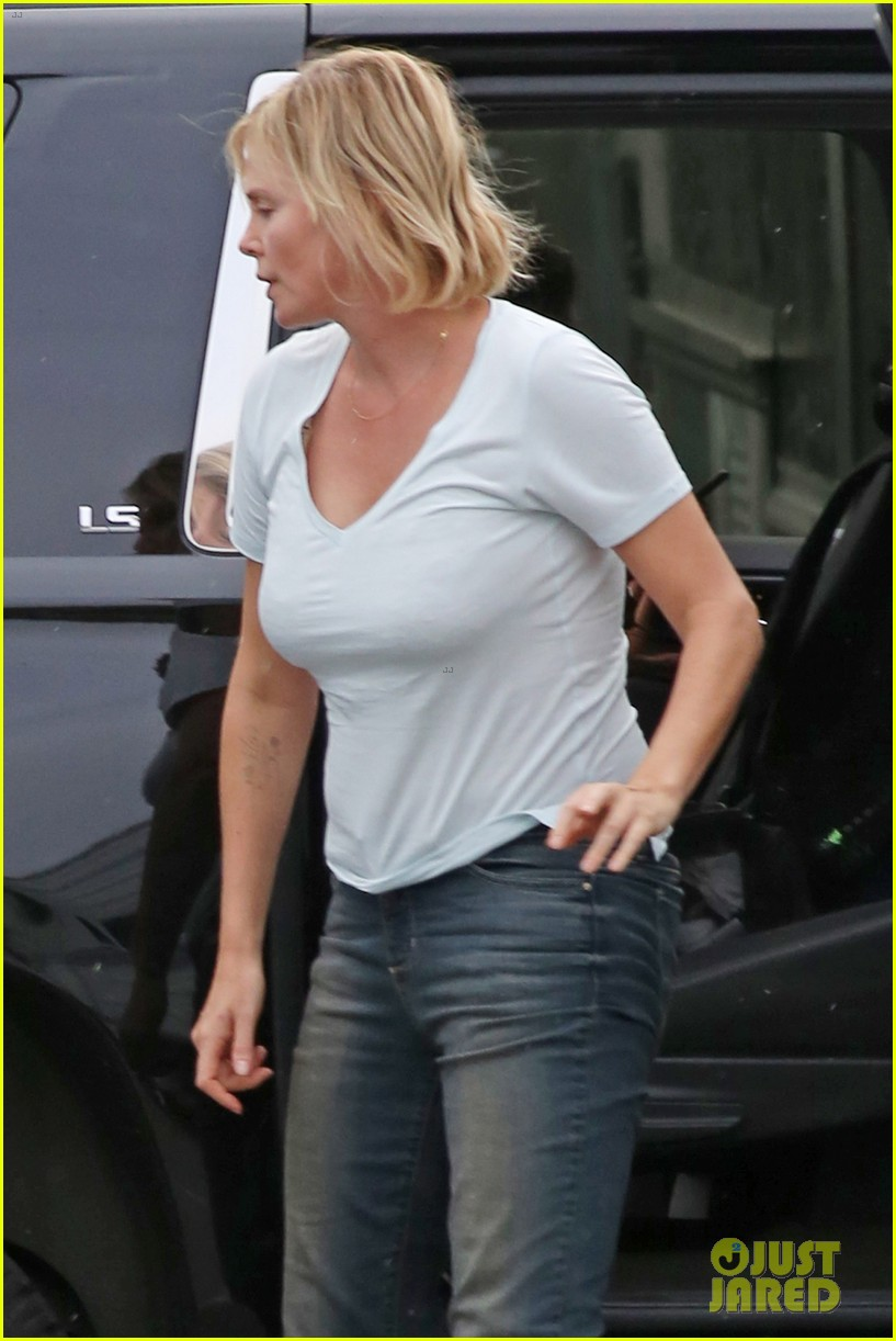 Charlize Theron Hits The Park While Filming Tully Photo