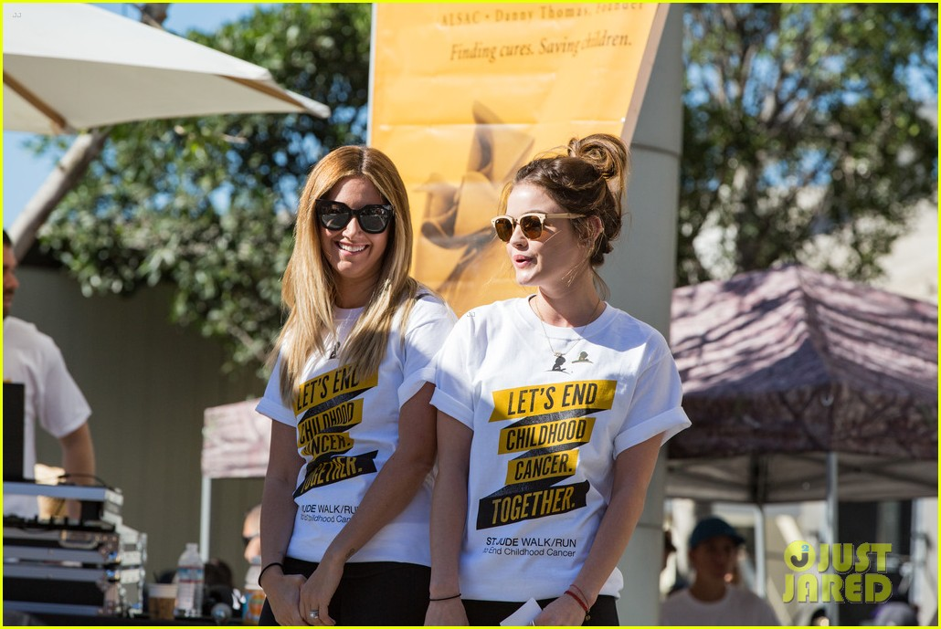 ashley tisdale lucy hale more st jude cancer walk 043769573