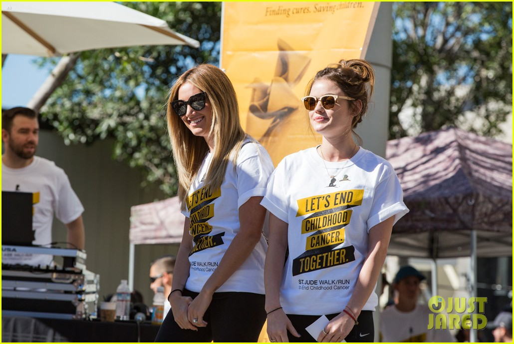 ashley tisdale lucy hale more st jude cancer walk 103769579