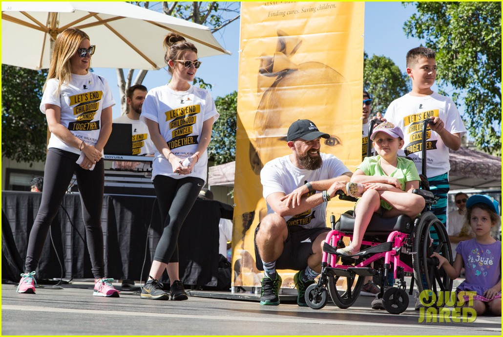 ashley tisdale lucy hale more st jude cancer walk 203769589