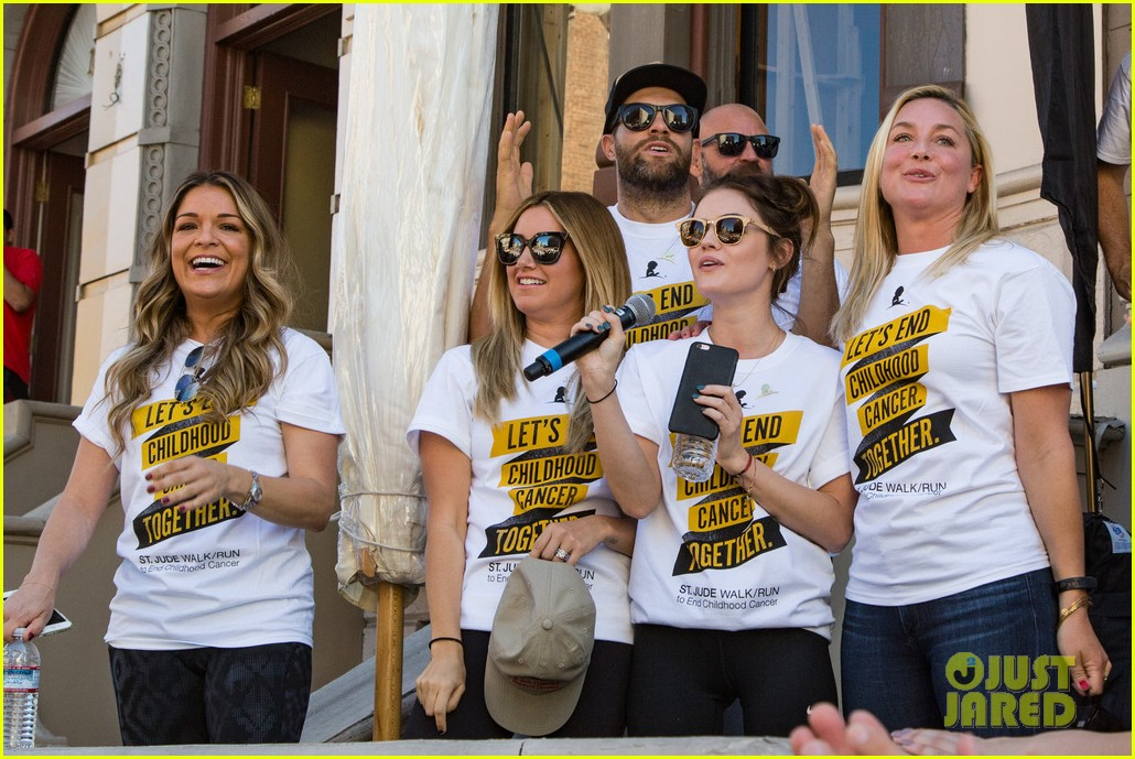 ashley tisdale lucy hale more st jude cancer walk 273769596