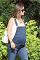 olivia wilde shows off baby bump in cute overalls 06