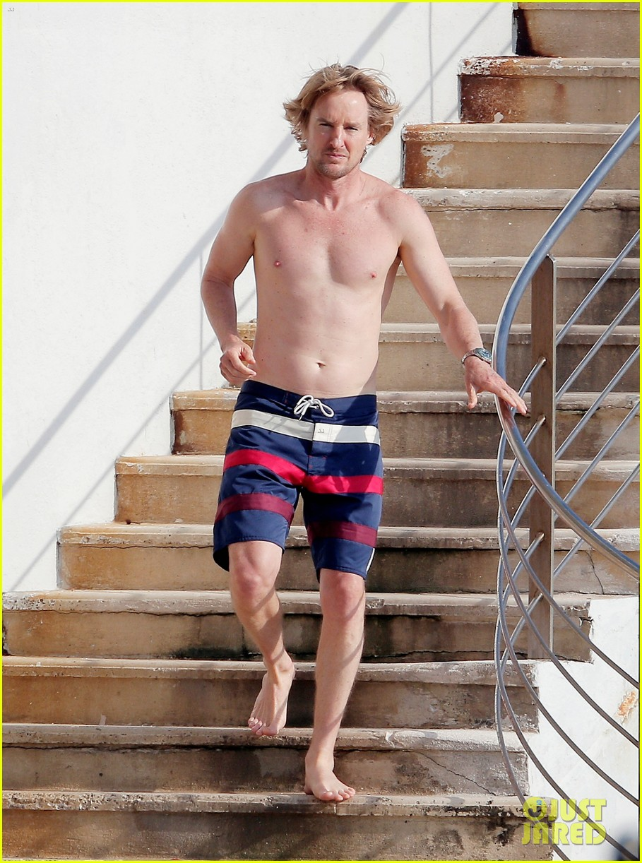 owen wilson goes shirtless bares fit bod in france 013770580