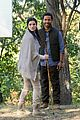 jaimie alexander crawls around the woods while filming for blindspot 08