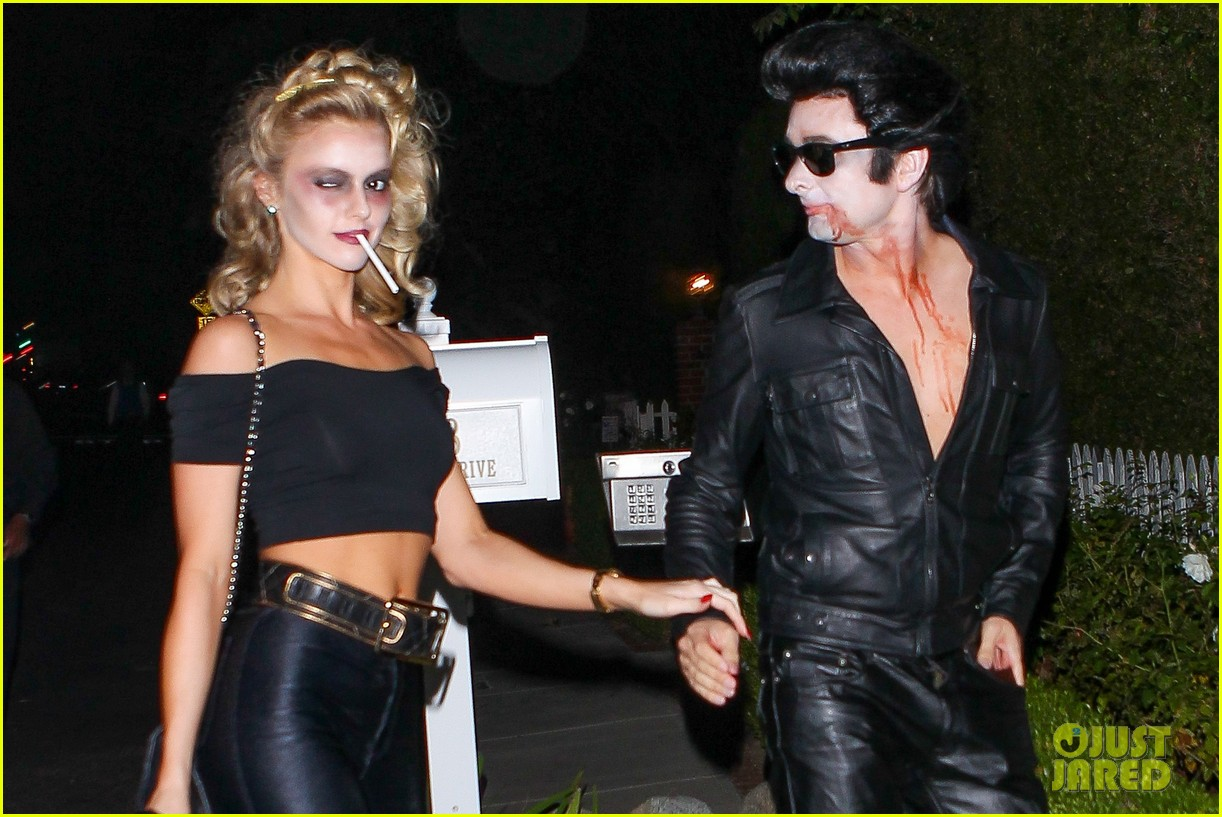 matthew bellamy does bloody grease costume with elle evans 063796758