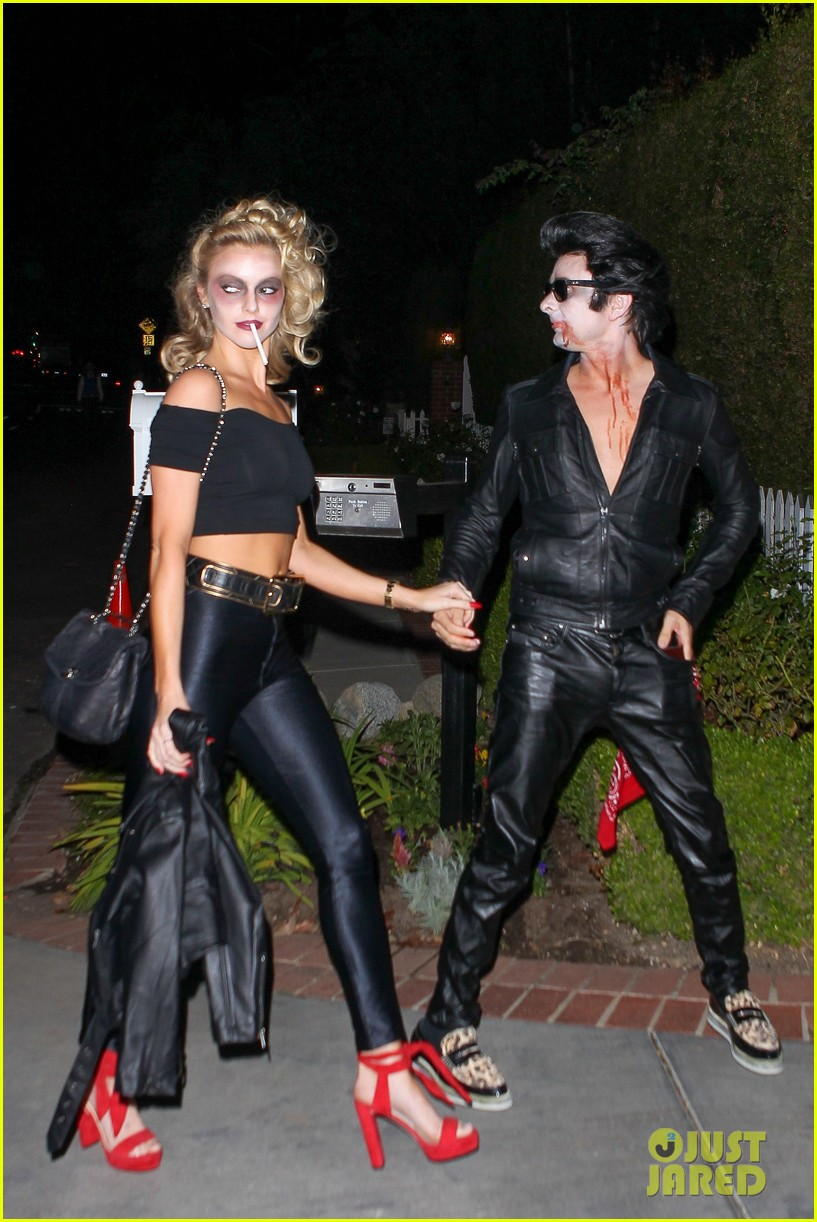 matthew bellamy does bloody grease costume with elle evans 113796763