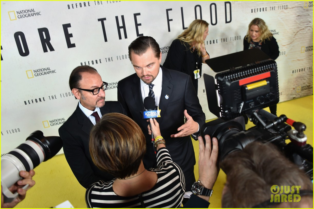 leonardo dicaprio almost drowned filming before the flood 093790306