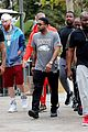 drake wears orange sweats for lunch 03