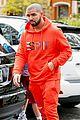 drake wears orange sweats for lunch 21