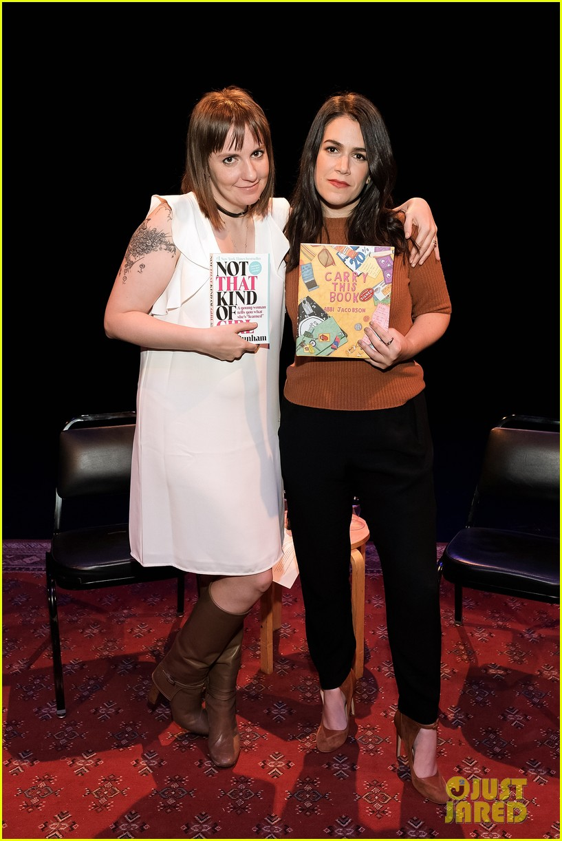 dunham helps beauty of a friend abbi jacobson launch carry this book 023794101