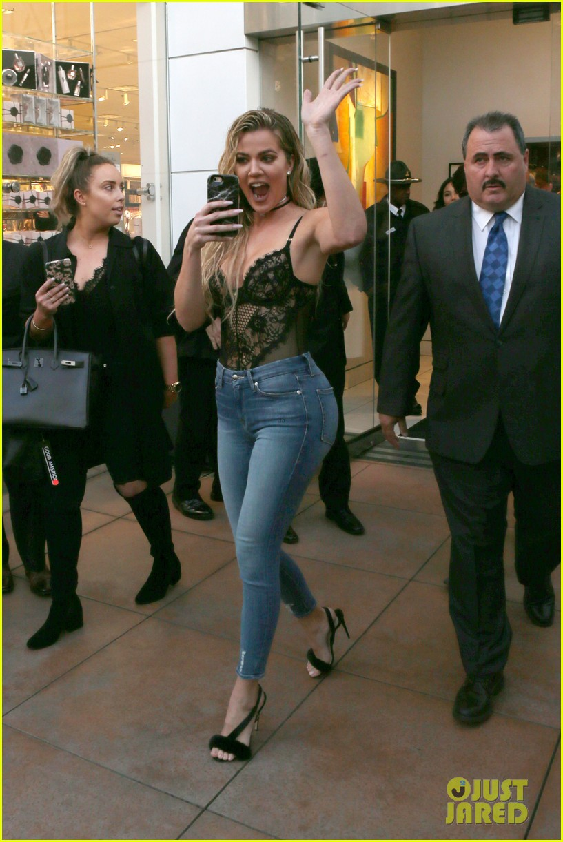9acd93cc74c22 Khloe Kardashian is Joined by Mom Kris Jenner at 'Good American' Jeans  Launch!