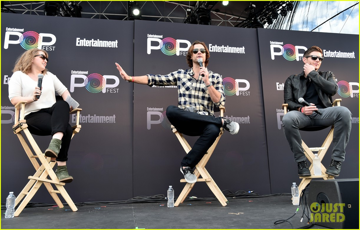 jared padalecki and jensen ackles bring supernatural to ew  popfest 073796963