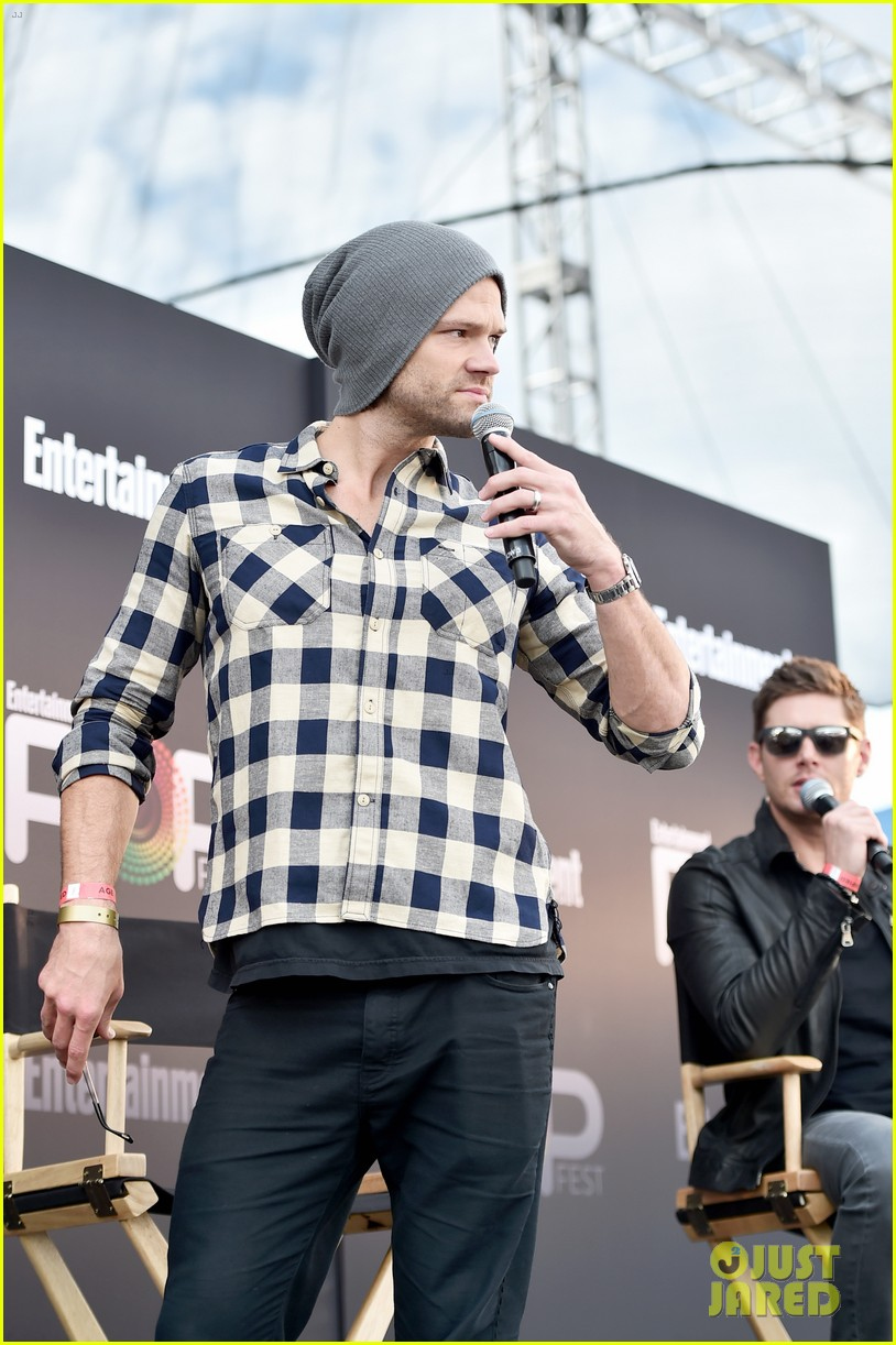 jared padalecki and jensen ackles bring supernatural to ew  popfest 133796969