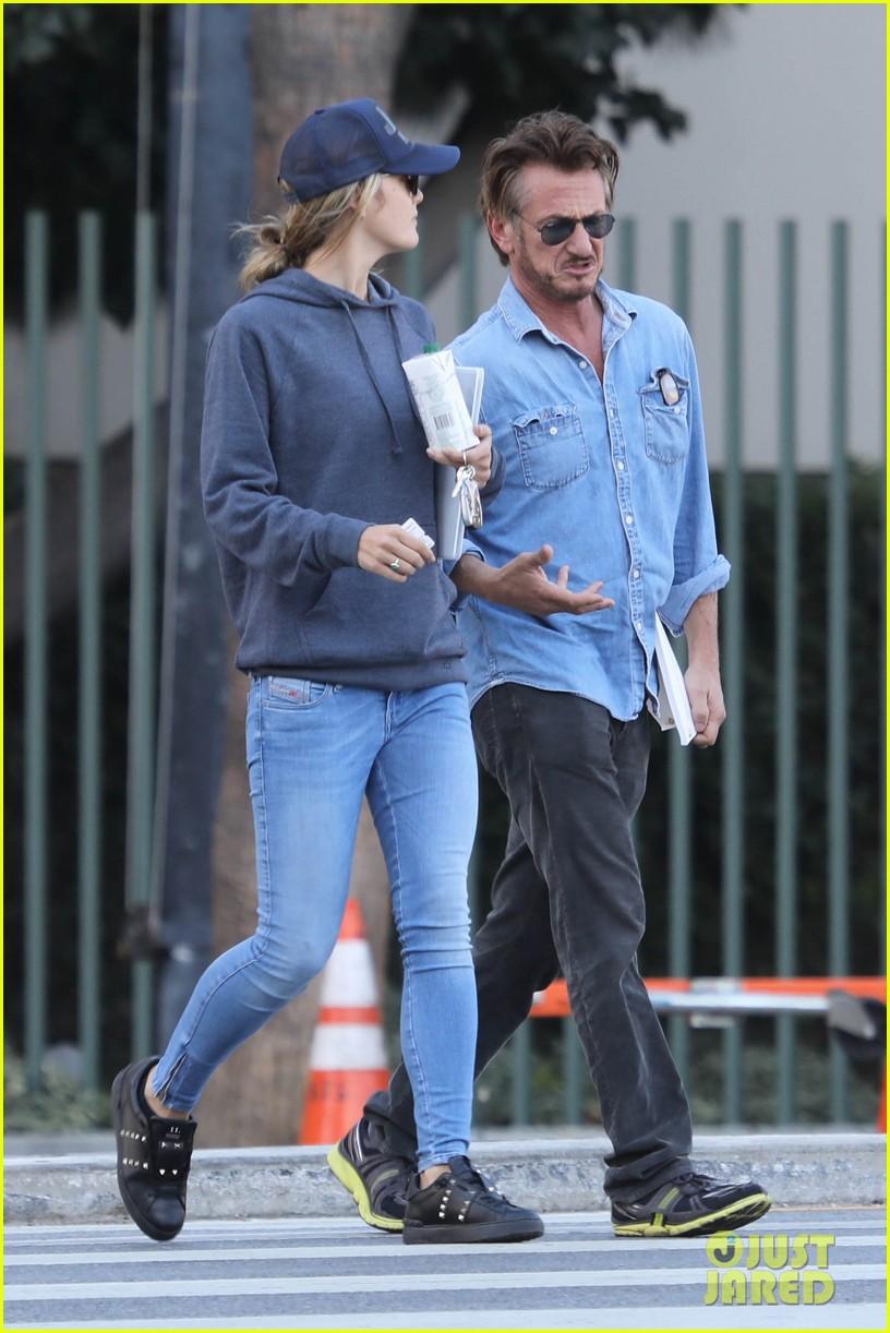 Sean Penn & New Girlfriend Leila George Make Red Carpet