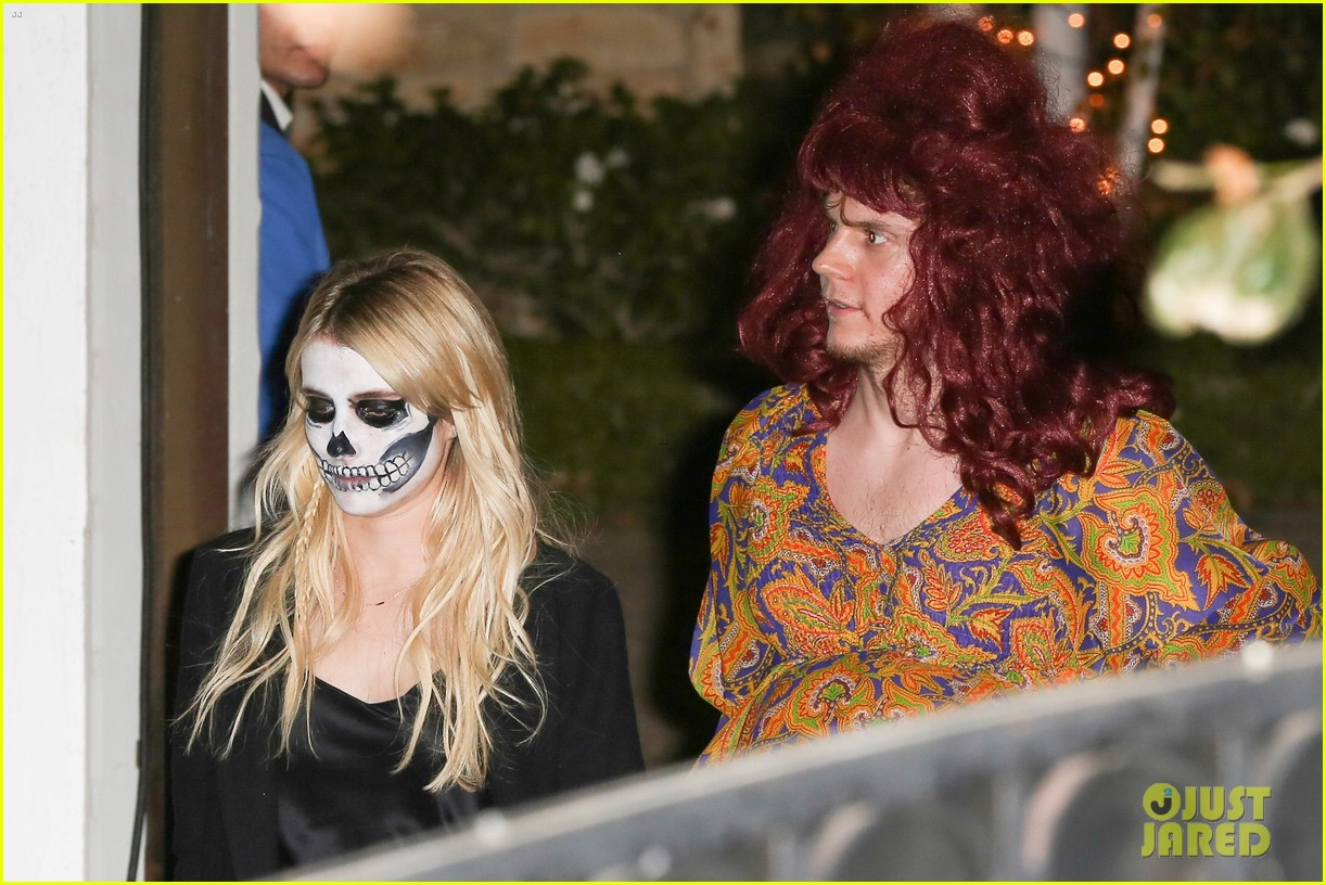 Evan Peters Dresses As Pregnant Woman For Halloween Alongside Emma Roberts Photo 3796924 2016 Halloween Emma Roberts Evan Peters Pictures Just Jared