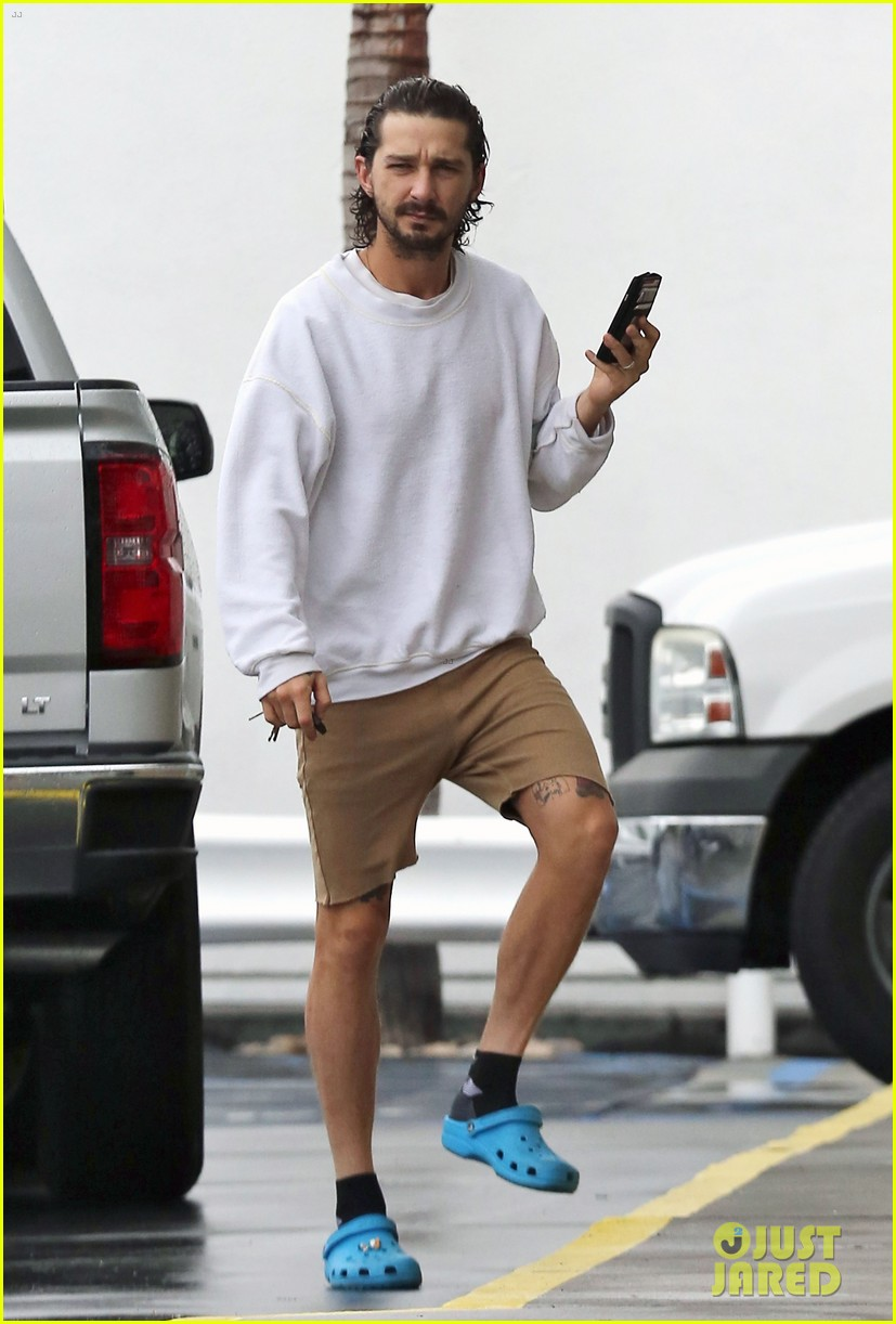 Shia LaBeouf Sports Wet Hair for Sherman Oaks Coffee Run ...