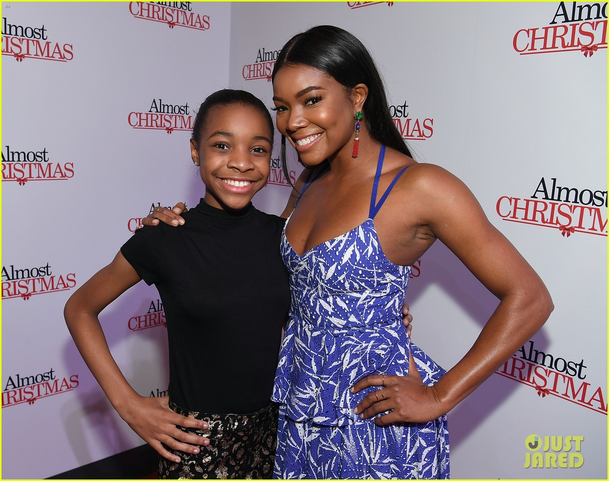 gabrielle union celebrates birthday at almost christmas atlanta premiere 273794925