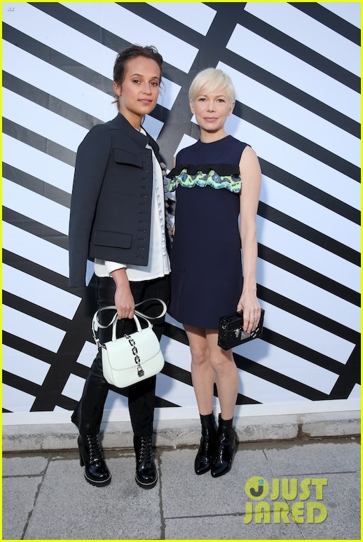 alicia vikander michelle williams caitriona balfe hit up louis vuitton paris 273778181