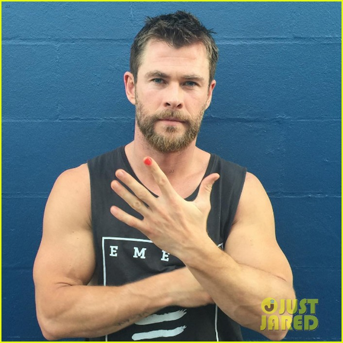 Chris Hemsworth Wears Nail Polish for Good Cause, Nominates Liam ...