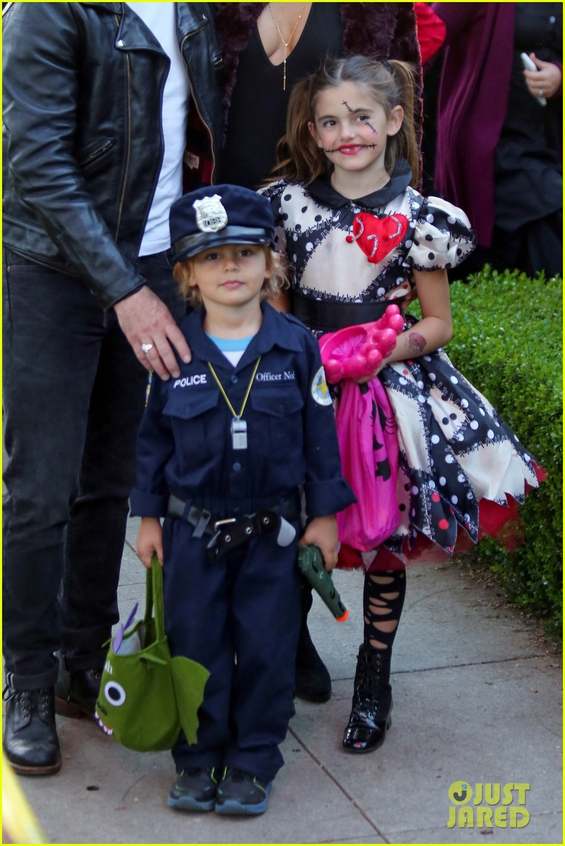 alessandra ambrosio wears bunny ears while trick or treating 043799650