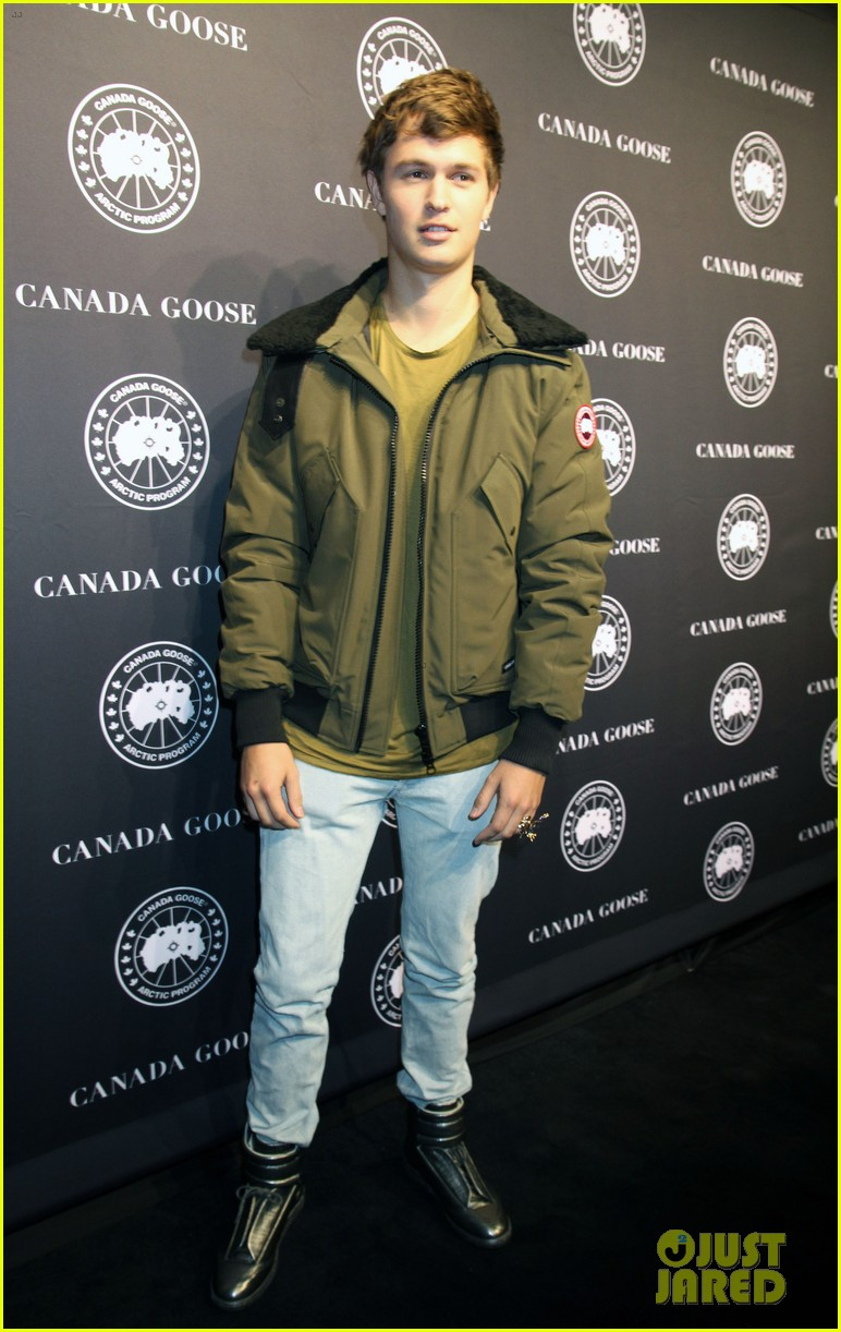 ansel elgort canadian goose launch nyc 033810846