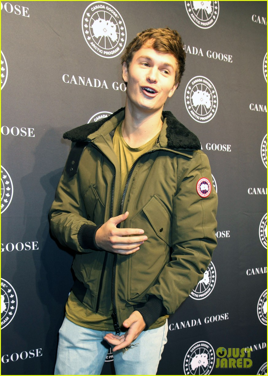 ansel elgort canadian goose launch nyc 093810852