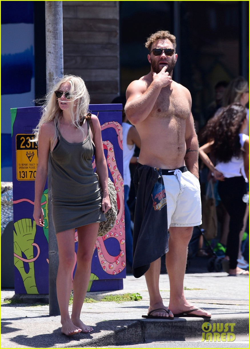 jai courtney looks so hot while shirtless with girlfriend mecki dent 033817483