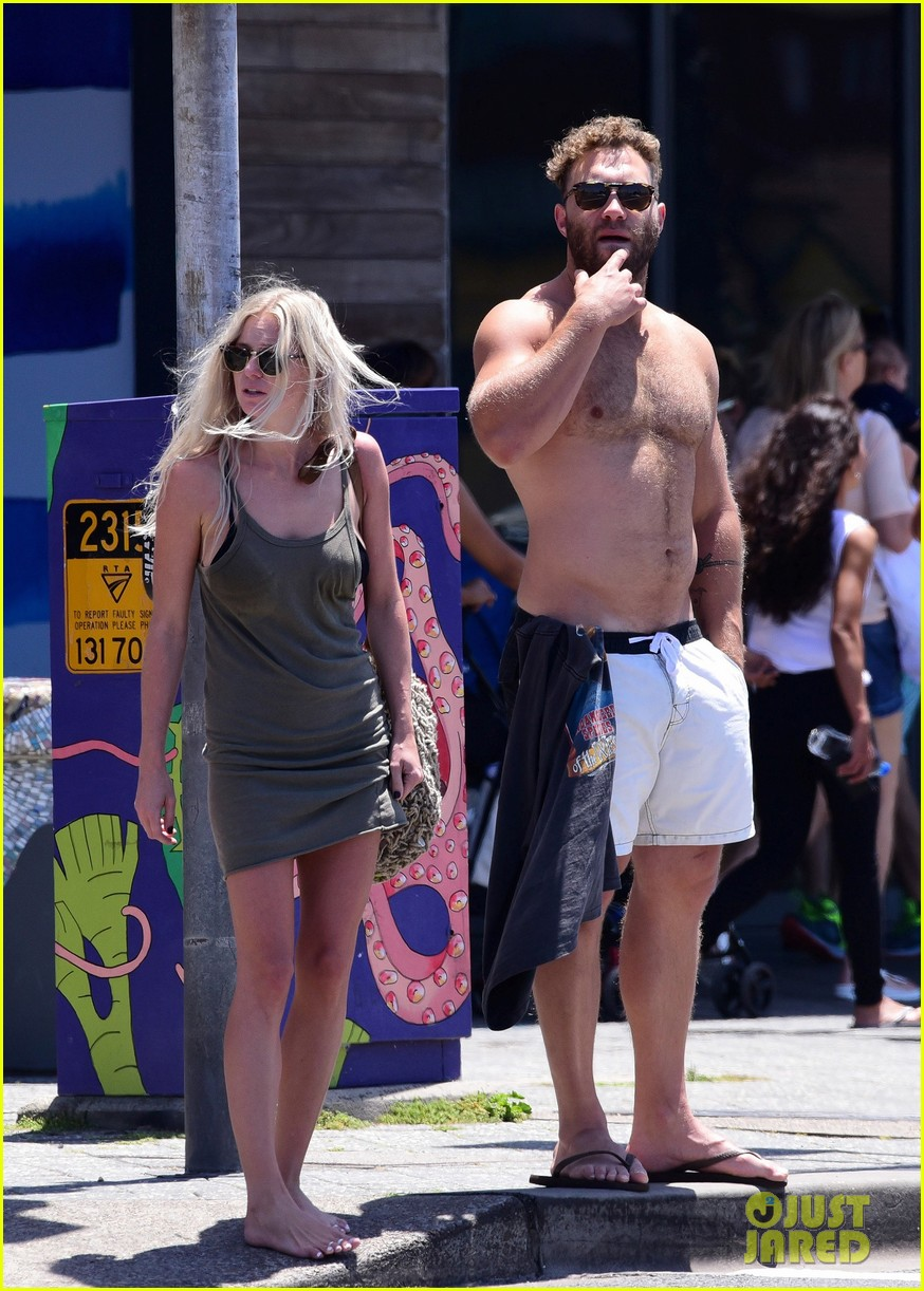 jai courtney looks so hot while shirtless with girlfriend mecki dent 183817498