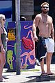 jai courtney looks so hot while shirtless with girlfriend mecki dent 17